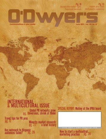 INTERNATIONAL & MULTICULTURAL ISSUE - Odwyerpr.com