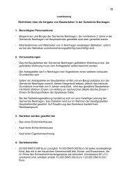 13 Richtlinien über die Vergabe von Baudarlehen in der Gemeinde ...