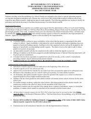 Intra-district Transfer Request Form - Reynoldsburg City Schools