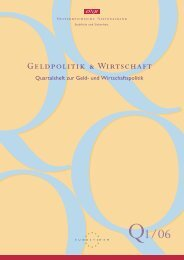 Geldpolitik & Wirtschaft Q1/06