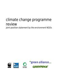 joint position statement by the environment NGOs - WWF UK