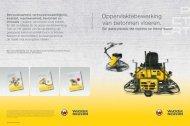 Oppervlaktebewerking van betonnen vloeren. - Wacker Neuson