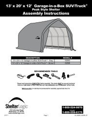 Assembly Instructions - ShelterLogic