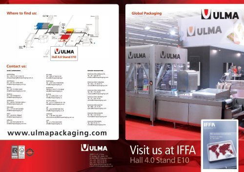Contact us - ULMA Packaging