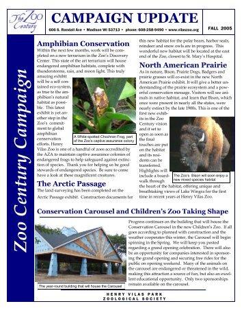 11/7/2005 Zoo Century Campaign Update - Henry Vilas Zoo