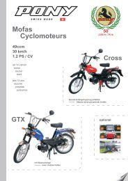 Mofas Cyclomoteurs - amsler & co. ag