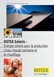 ROTEX Solaris - Energie solaire pour la production d ... - its-services