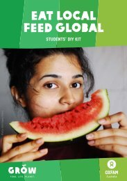 Eat Local Feed Global Students' DIY Kit