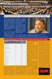 News aus Europa - Ausgabe Juni 2011 - Dr. Thomas Ulmer MdEP