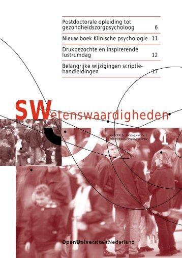 Lees de nieuwe Swetenswaardigheden - Open Universiteit Nederland
