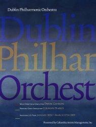 DPO U.S. Tour Souvenir Brochure - The Dublin Philharmonic ...