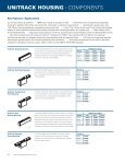 UNITRACK HOUSING • SPECIFICATIONS - Lighting Services Inc - Page 3