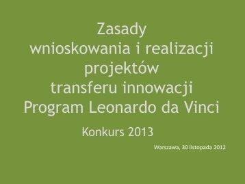 Priorytety strategiczne - Leonardo da Vinci