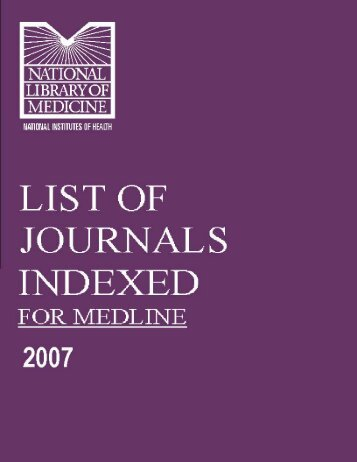 Medline Index 2007 - International Journal of Pharmaceutical and ...