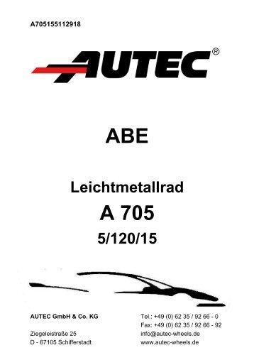 ABE A 705 - AUTEC GmbH & Co. KG