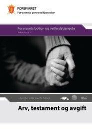 Arv, testament og avgift - Forsvaret
