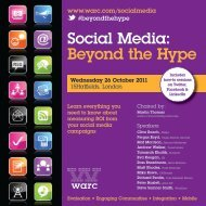 Social Media: Beyond the Hype - Warc