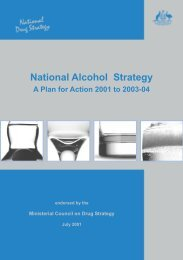 A Plan for Action 2001 to 2003-04 - National Drug Strategy
