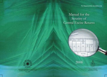 Manual for the Scrutiny of Central Excise Returns 2008