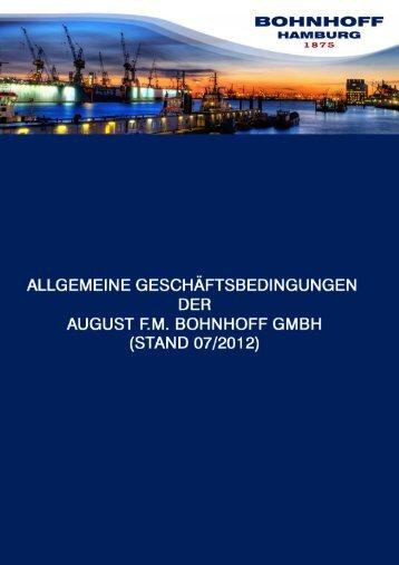 Allgemeines Geschäftsbedingungen - Bohnhoff GmbH ...