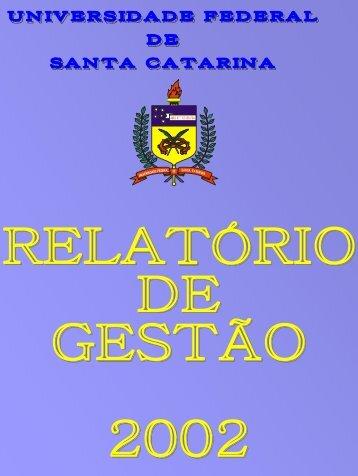Relatório de Gestão - 2002 - Pós-Graduação - UFSC