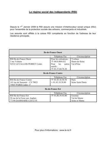 Liste des caisses sociales 2010
