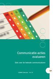 COMMCollection 15 Communicatie-acties evalueren (PDF ... - Fedweb