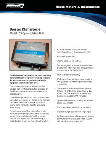 Dresser Chatterbox-e - UK Metering
