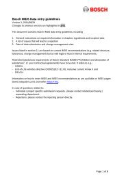 Bosch IMDS Data entry guidelines