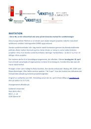 INVITATION - Danish Water Forum