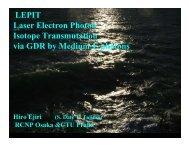 Laser Electron Photon Isotope Transmutation via GDR by Medium-E ...