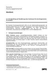 Die Deutsche Forschungsgemeinschaft (DFG) ist eine ...