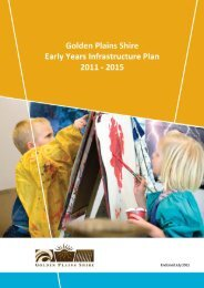 Early Years Infrastructure Plan 2011-15 (696 kb) - Golden Plains Shire