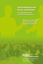 Unternehmerforum Druck und Medien - Print & Media Forum AG
