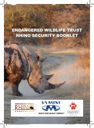 ENDANGERED WILDLIFE TRUST RHINO SECURITY BOOKLET