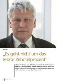 Herr Professor Fasel, Sie gelten seit - VR Bank Rhein-Neckar eG