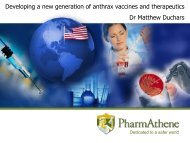 Developing a new generation of anthrax vaccines ... - Blsmeetings.net