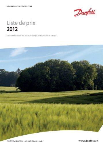 Liste de prix GTB + sous-stations de chauffage - Spécialistes Suisse ...
