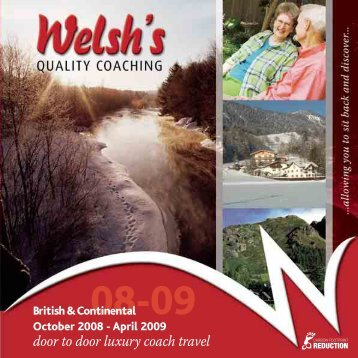 April 2009 - Welsh's Coach Holidays