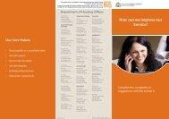 Customer Feedback Form - Department of Housing