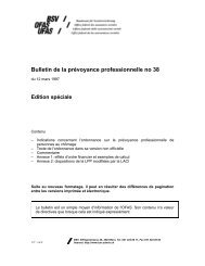 Bulletin de la prévoyance professionnelle no 38 - admin.ch