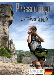 dossier 2010 en allemand - Lozère Tourisme