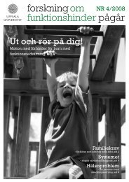 nr 4/2008 - Centrum för forskning om funktionshinder - Uppsala ...