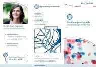 Dysplasiesprechstunde - abts + partner
