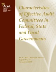 Characteristics of Effective Audit Committees in Federal, State ... - AGA