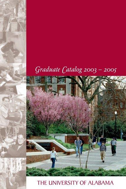 2003 2005 Graduate School The University Of Alabama
