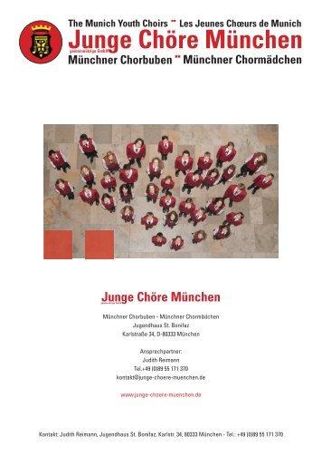 Münchner Chormädchen Junge Chöre München