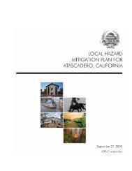 Atascadero (PDF) - Hazard Mitigation Web Portal - State of California