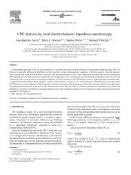 CPE Analysis by Local Electrochemical Impedance Spectroscopy