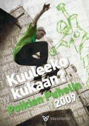 Poikien Puhelimen vuosiraportti 2009 - Väestöliitto
